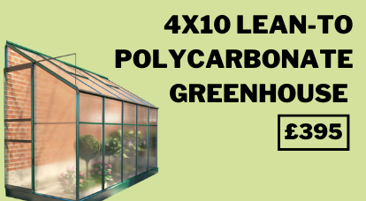 4x10 Polycarbonate Lean-To Greenhouse