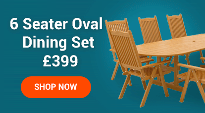 6 Seater Oval Dining Set