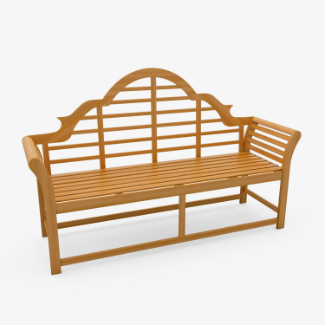 Windsor 3 Seater Lutyens Wooden Garden Bench