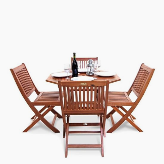 Windsor 1.0m Octagonal Dining Set - 2 or 4 Seater