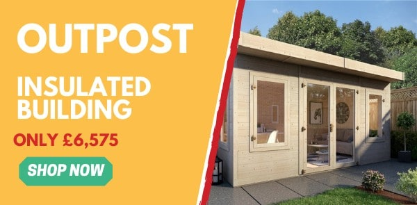 Garden Buildings Direct Outpost Insulated Building Ad Banner