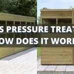 What is pressure treatment and how does it protect wood?