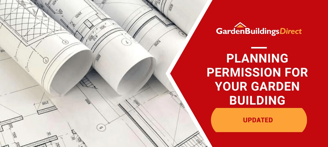 Garden Building Planning Permission with rolls of architectural plans