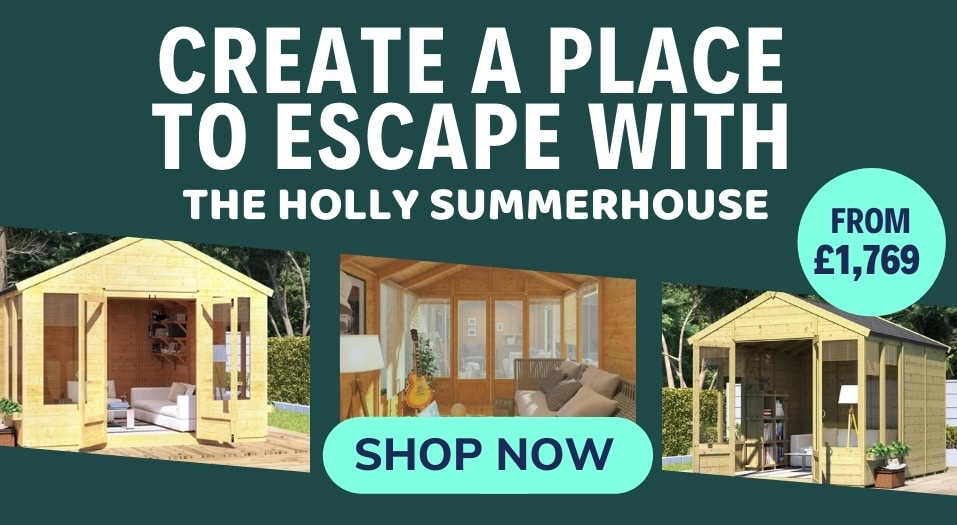 Create a place to escape with the Holly Summerhouse