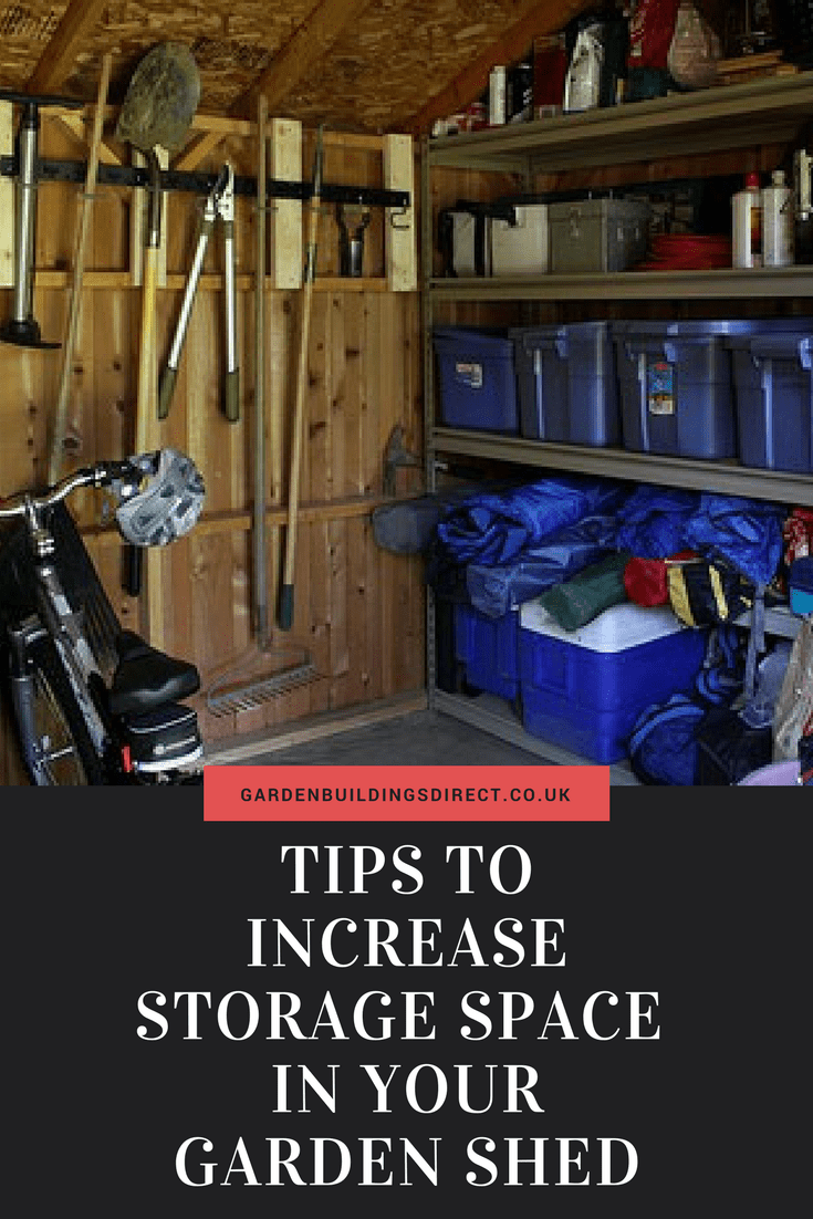 TIPS TO INCREASE STORAGE SPACE IN YOUR GARDEN SHED (1)