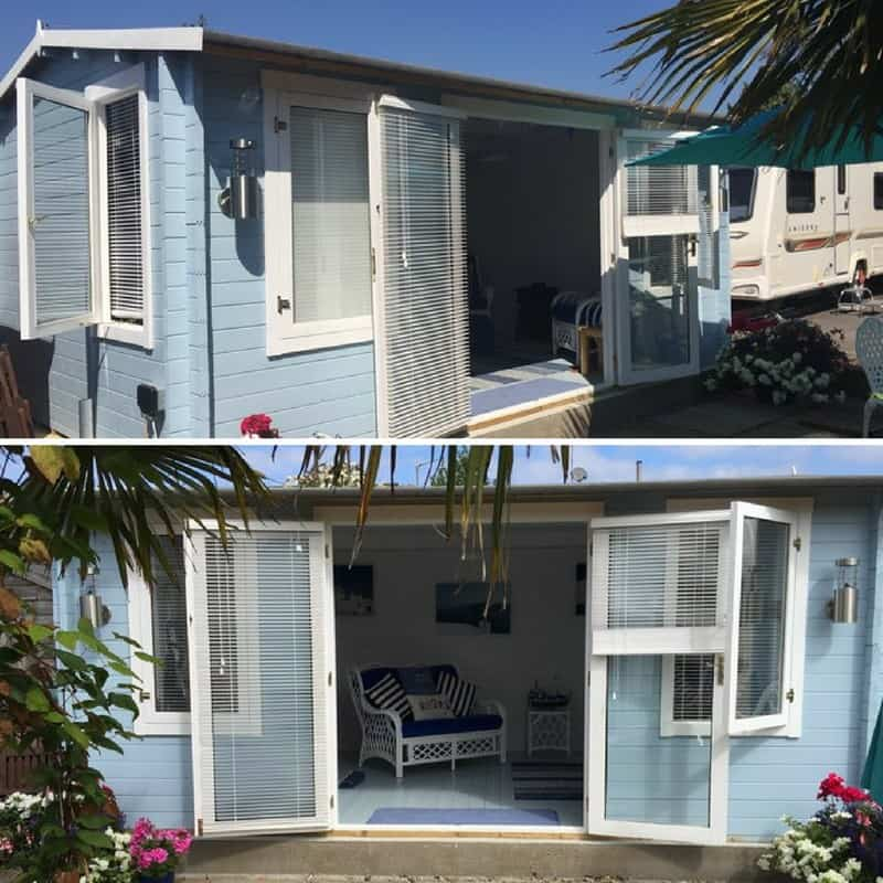 Great Create The Feeling Of Being At A Tropical Island Resort With A Pale Modern,  Pale Blue Summerhouse. For Interiors Think White Rattan And With Accents Of  Blue ...