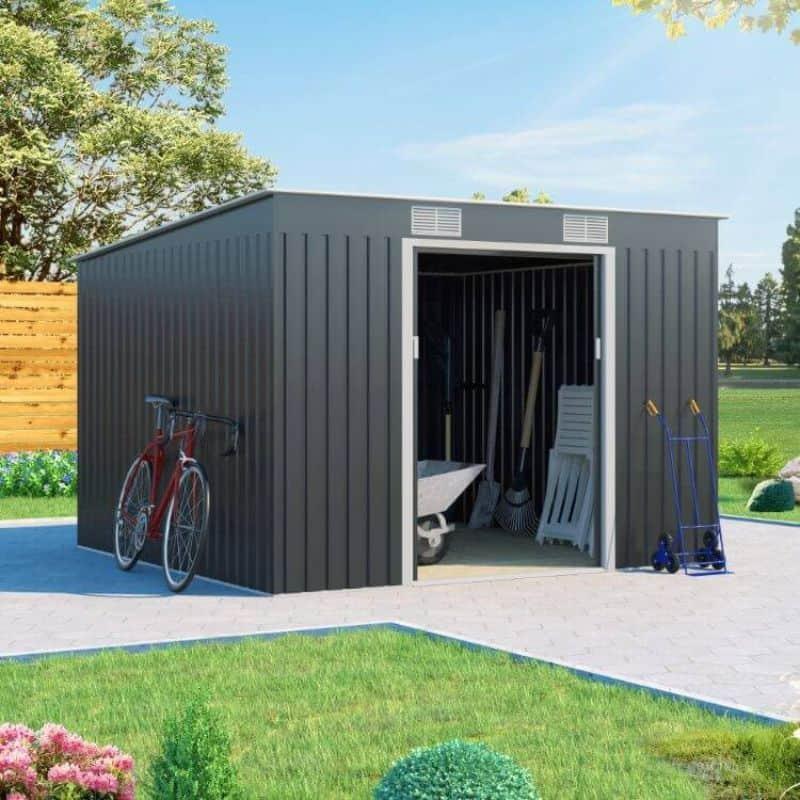 BillyOh Cargo Pent Metal Shed Including Foundation Kit