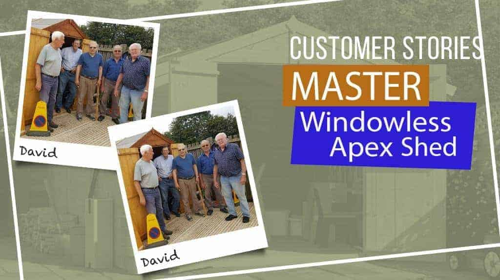 Master Apex Windowless Double Door Shed: Customer Stories