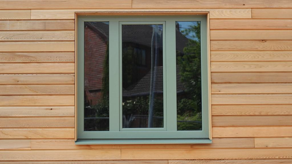 tongue and groove timber shed with window frame
