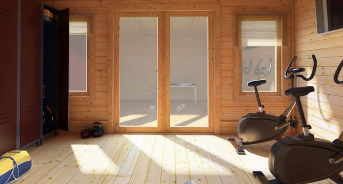 How to Create a Home Gym in Your Log Cabin