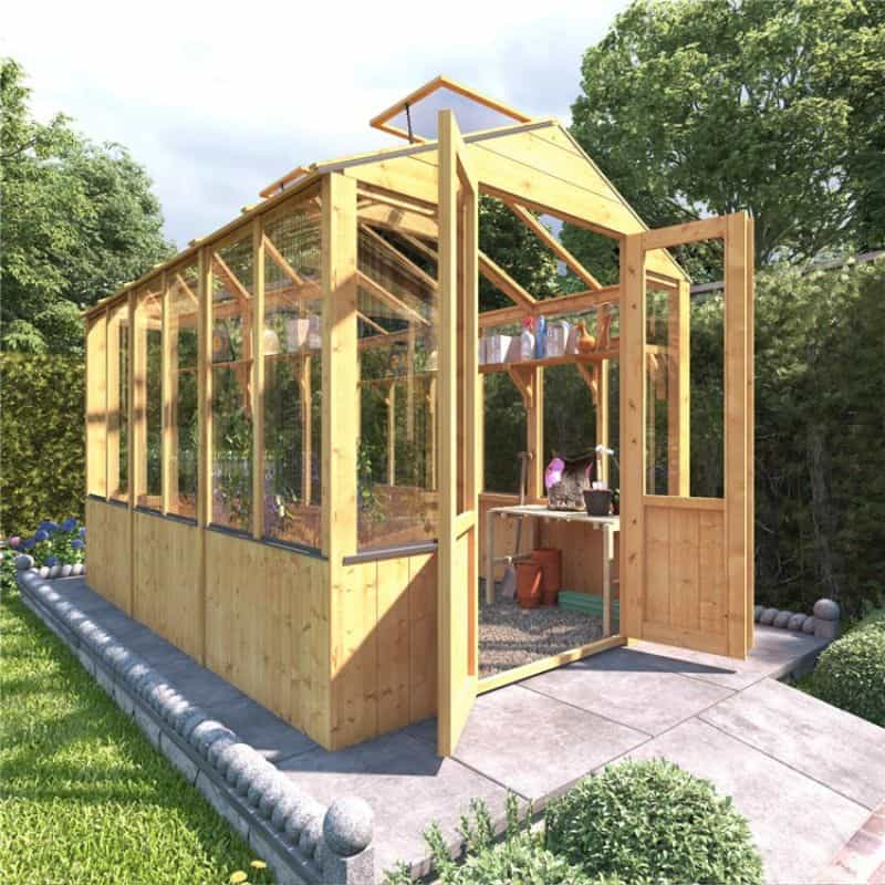 BillyOh 4000 Lincoln Wooden Clear Wall Greenhouse