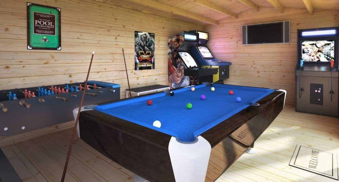 How to Transform Your Log Cabin into a Games Room