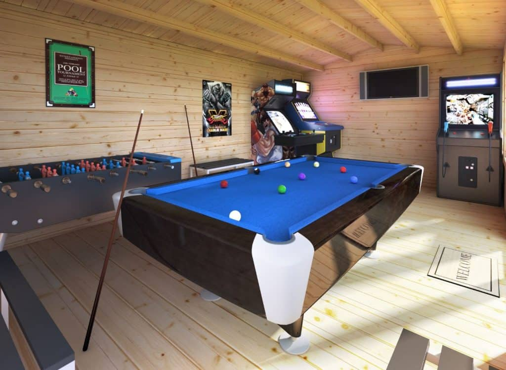 log-cabin-games-room-ideas-4-install-a-gaming-table-and-entertainment-area-