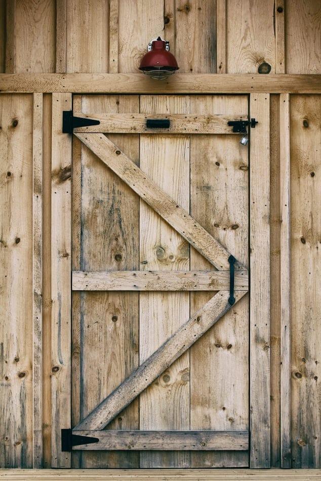 Timber Shed Door