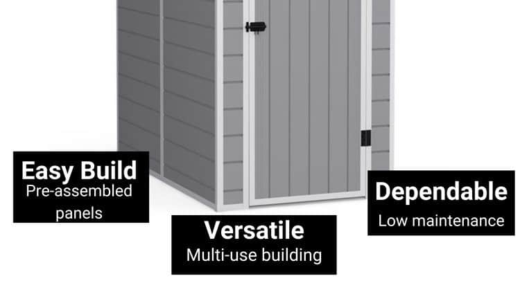 bottom of a plastic shed infographic