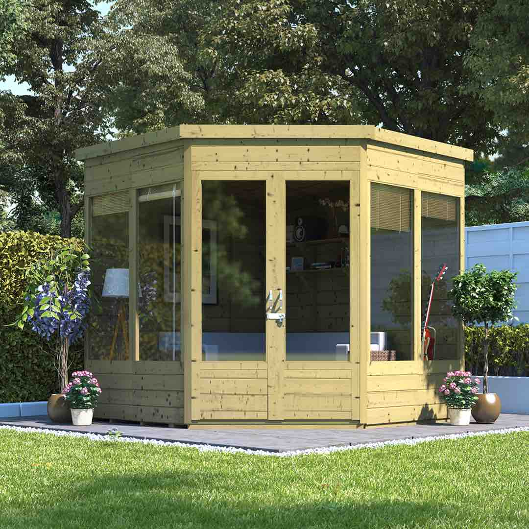 Summerhouses - the ultimate guide - corner summerhouse