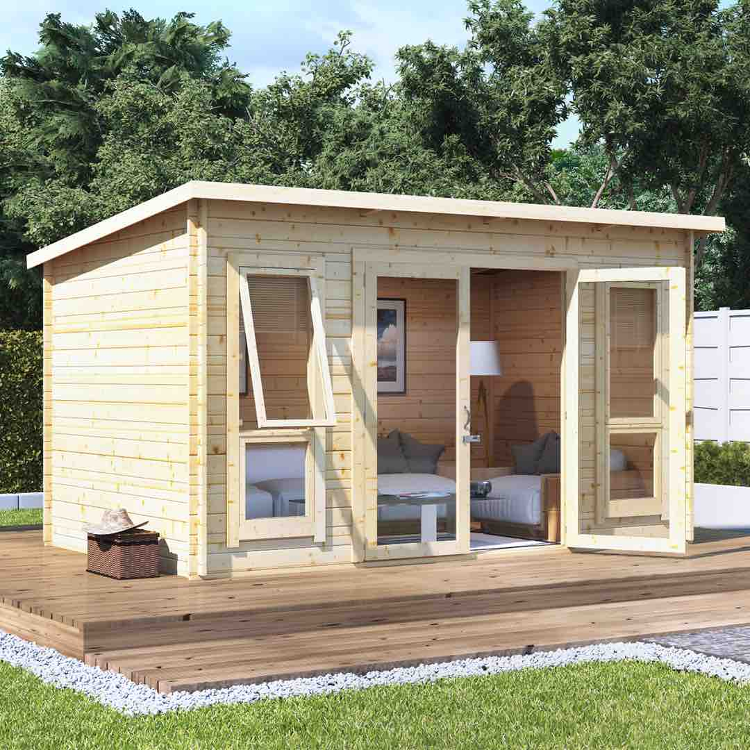 Summerhouses - the ultimate guide - log cabin summerhouse